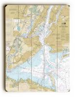 NY: New York Harbor, NY Nautical Chart Sign