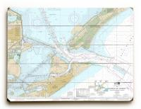 TX: Galveston Bay Entrance, TX Nautical Chart Sign