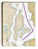 WA: Vashon Island, Maury Island, WA Nautical Chart Sign