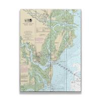 GA: St Simons Island, Jekyll Island, GA Nautical Chart Sign