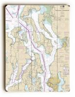 WA: Puget Sound NORTHERN Part, WA Nautical Chart Sign