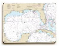 Gulf of Mexico Nautical Chart Sign