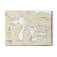 Great Lakes Nautical Chart Sign