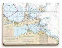 OH: Port Clinton, Catawba Island, Sandusky, OH Nautical Chart Sign