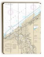 OH: Cleveland Harbor, OH Nautical Chart Sign