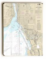 NY: Buffalo Harbor, NY Nautical Chart Sign