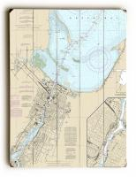 WI: Green Bay, WI Nautical Chart Sign