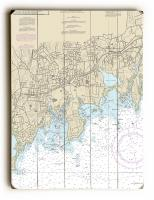 CT: Stamford, CT Nautical Chart Sign