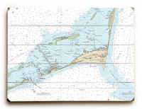 NC: Cape Hatteras, Hatteras Inlet, NC Nautical Chart Sign