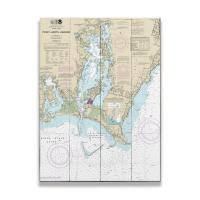 RI: Point Judith Harbor, RI Nautical Chart Sign