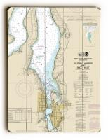 WA: Olympia, WA Nautical Chart Sign