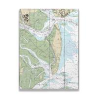 GA: Jekyll Island, GA Nautical Chart Sign