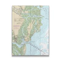 GA: St. Simons Island, GA Nautical Chart Sign