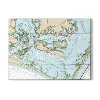 NC: Harkers Island, NC Nautical Chart Sign