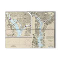 DC: Washington Harbor, DC Nautical Chart Sign