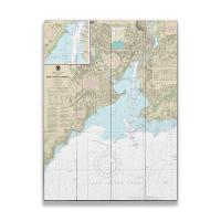 CT: New Haven Harbor, CT Nautical Chart Sign