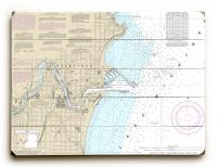 WI: Sheboygan, WI Nautical Chart Sign
