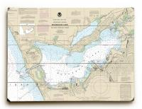MI: Muskegon, MI Nautical Chart Sign
