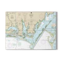 NC: Beaufort Inlet, Core Sound, NC Nautical Chart Sign