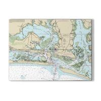 NC: Morehead City, Beaufort, NC Nautical Chart Sign
