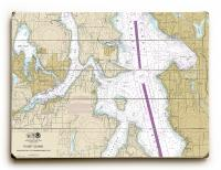 WA: Bremerton, Bainbridge Island, Seattle, WA Nautical Chart Sign