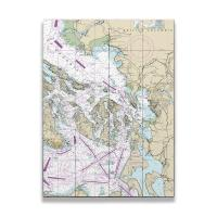 WA: San Juan Islands, Bellingham, Anacortes, WA Nautical Chart Sign