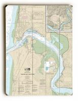 OR: Yaquina Bay and River, OR Nautical Chart Sign