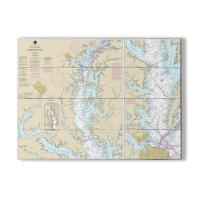 MD-VA Chesapeake Bay, MD-VA Nautical Chart Sign