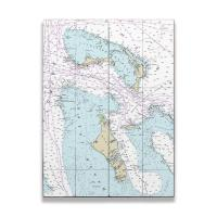 BAHAMAS: Grand Bahama, Abaco, Andros, New Providence, Bahamas Nautical Chart Sign