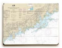 CT: North Shore of Long Island Sound, Stamford, Norwalk, CT Nautical Chart Sign