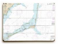NC: Cape Hatteras, Wimble Shoals to Ocracoke Inlet, NC Nautical Chart Sign