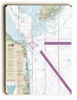 NJ: Cape May, NJ to Fenwick Island, DE Nautical Chart Sign