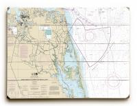 VA-NC Cape Henry, VA to Currituck Beach Light, NC Nautical Chart Sign