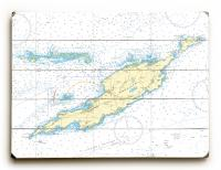 Anguilla, West Indies Nautical Chart Sign