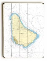 Barbados, West Indies Nautical Chart Sign