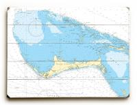 Grand Bahama Island, Bahamas Nautical Chart Sign