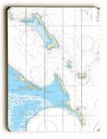 Cat Island, Exuma Island, Long Island, Rum Cay, Bahamas Nautical Chart Sign