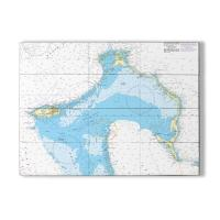 New Providence, Eleuthera, Bahamas Nautical Chart Sign