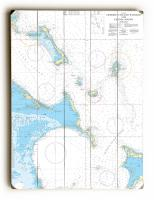 Crooked Island Passage and Exuma Sound, Bahamas Nautical Chart Sign