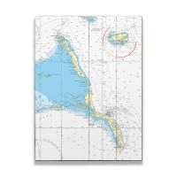 Long Island, Rum Cay, Bahamas Nautical Chart Sign