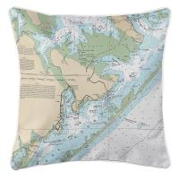 NC: Atlantic, NC Nautical Chart Pillow