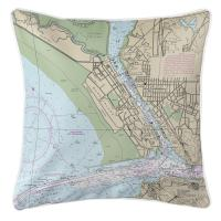 CA: Vallejo, CA Nautical Chart Pillow