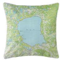 MN: Mille Lacs Lake, MN (1985) Topo Map Pillow