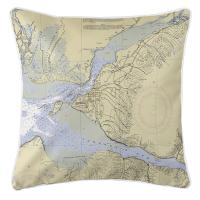 AK: Anchorage, AK Nautical Chart Pillow