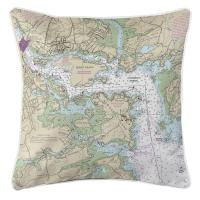 NH: Portsmouth Harbor, NH Nautical Chart Pillow