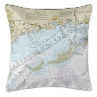 FL: Crystal Beach, Honeymoon Island, FL Nautical Chart Pillow