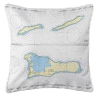 The Cayman Islands, West Indies Nautical Chart Pillow