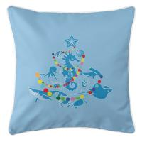Sea Life Christmas Tree Pillow