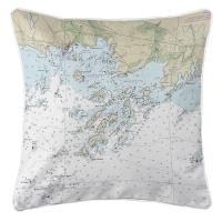 CT: Thimble Islands, CT Nautical Chart Pillow