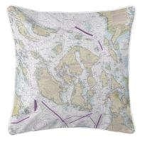 WA: San Juan Islands, WA Nautical Chart Pillow